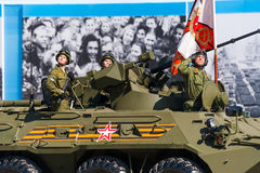 Military parade in Moscow, Russia, 2015 Royalty Free Stock Photos