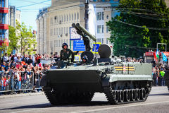 Military parade in Moscow on 9th of May Royalty Free Stock Image