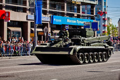 Military parade in Moscow on 9th of May Stock Photos