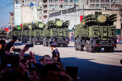 Military parade in Moscow on 9th of May Stock Image