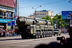 Military parade in Moscow on 9th of May Stock Photography