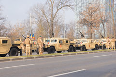 Military parade Stock Images