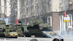 Military parade near the Kremlin, Moscow, Russia. stock video