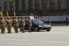 Military parade in Pyongyang Royalty Free Stock Image
