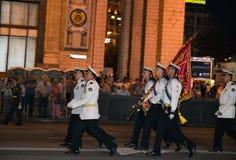 Military parade rehearsal Royalty Free Stock Photo
