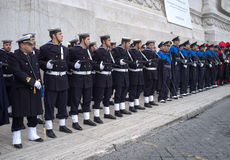 Military parade in Rome Stock Photo
