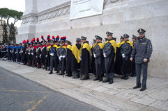 Military parade in Rome Stock Images