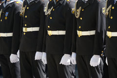 Military parade in Sevastopol, Ukraine Royalty Free Stock Photography