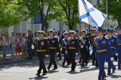 Military parade in Sevastopol, Ukraine Royalty Free Stock Image