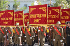 Military parade in Sevastopol, Ukraine Royalty Free Stock Images