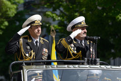Military parade in Sevastopol, Ukraine Stock Image