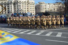 Military parade with soldiers from Afghanistan Stock Image