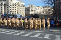 Military parade with soldiers from Afghanistan Royalty Free Stock Photos