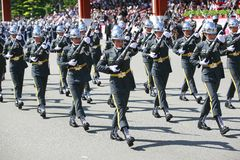 Military parade in Taiwan Stock Photo