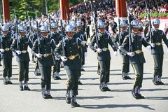 Military parade in Taiwan royalty free stock image