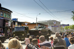 Military Parade for the 70th anniversary of the victory over fas Stock Photography