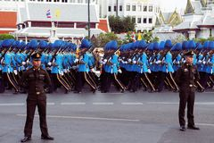 Military Parade for Thai King's birthday, a major Royalty Free Stock Photography