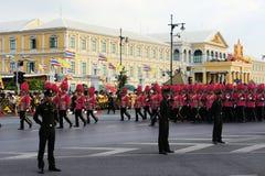 Military Parade for Thai King's birthday, a major Royalty Free Stock Photos
