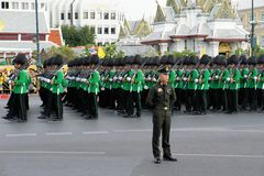 Military Parade for Thai King's birthday, a major Stock Photography