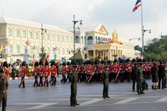 Military Parade for Thai King's birthday, a major Royalty Free Stock Photos