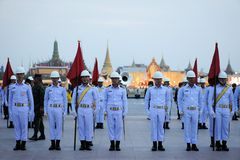 Military Parade for Thai King's birthday, a major Royalty Free Stock Photo