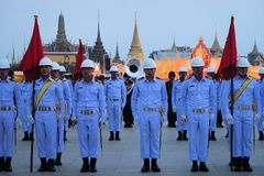 Military Parade for Thai King's birthday, a major Royalty Free Stock Images