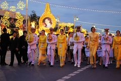 Military Parade for Thai King's birthday, a major Stock Photos