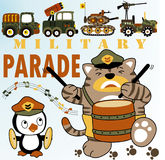 Military parade vector illustration