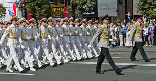 Military parade in the Ukrainian capital Stock Photo