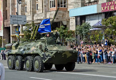 Military parade in the Ukrainian capital Royalty Free Stock Photos