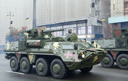 Military parade in the Ukrainian capital Stock Photos