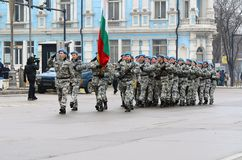 Military parade in Varna Royalty Free Stock Images