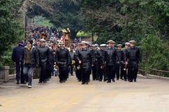 Military parade in Varna Royalty Free Stock Photo