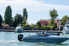 Military Parade in Venice Royalty Free Stock Image