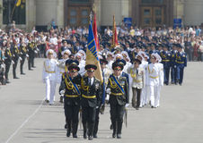 Military Parade of Victory Day Stock Image