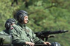 Military parade - APC crew Royalty Free Stock Photography