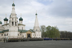 Military Parade in Yaroslavl. Russia Stock Photography