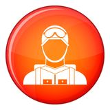 Military paratrooper icon, flat style Royalty Free Stock Photo