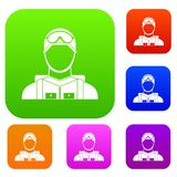Military paratrooper set collection Royalty Free Stock Images