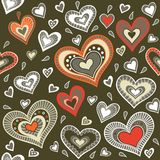 Military pattern with hearts. Pattern with hearts. You can use it for packaging design, textile design and scrapbooking Stock Image