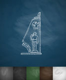Military pedestal icon. Hand drawn vector illustration Royalty Free Stock Images