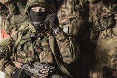 Free Military People On Training Ground Royalty Free Stock Photos - 60803688