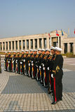 Military personnel, South Korea. View of a line of soldiers from South Korea in Seoul Stock Photos