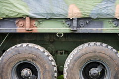 Military Personnel Transport Truck Close Up Stock Photography