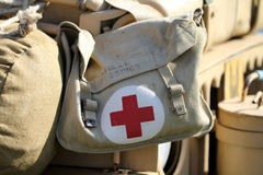 Military pharmacy kit Stock Photo