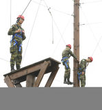 Military  physical training Royalty Free Stock Image