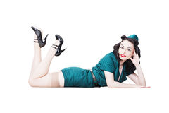 Military pin-up woman Stock Image