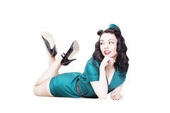 Military pin-up woman Royalty Free Stock Photography