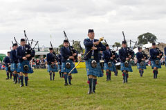 Military pipe and drum band Royalty Free Stock Images