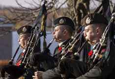 Military Pipers Stock Image